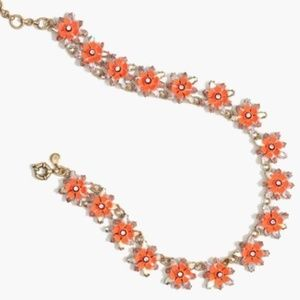 J.Crew Neon Floral Necklace $110 MSRP